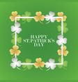 invitation or greeting card for the day of st vector image vector image