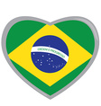 Isolated Brazilian flag vector image vector image