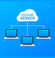 isometric cloud server cloud network server vector image