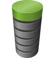 layered cylinder vector image vector image