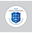 legal service - logo template concept vector image
