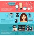 Makeup Banner Set vector image vector image