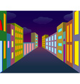Night city street vector image