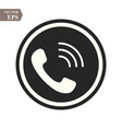 phone icon in trendy flat style isolated on grey vector image vector image
