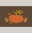 poster with autumn pumpkin in warm colors vector image