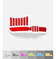 realistic design element toothbrush vector image