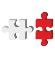 red white puzzle vector image