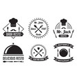 restaurant badge and logo good for print vector image