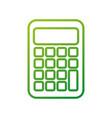 school calculator maths accounting icon vector image vector image