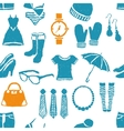 seamless doodle fashion pattern vector image