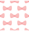 Seamless pattern pink bows on white background vector image vector image