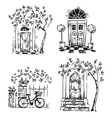 set architecture details drawings vector image vector image