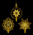 Set of Decorative Ornaments with Tassels vector image vector image
