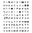 set of different icons vector image