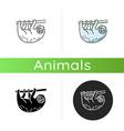 sloth icon vector image