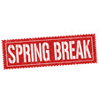 spring break sign or stamp vector image vector image