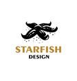 starfish lies at bottom sea vector image