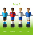 Table football foosball players vector image vector image