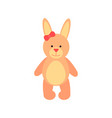 teddy bear with long ears vector image vector image