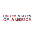 text united states america usa banner vector image