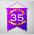 thirty five years anniversary celebration design vector image