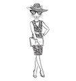 tigress dressed up in classy style vector image vector image