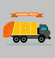 urban sanitary vehicle garbage truck vector image