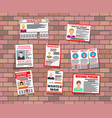 wanted person paper poster missing announce vector image vector image