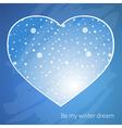 winter dream vector image vector image