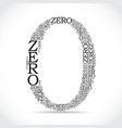 zero sign created from text vector image vector image