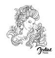 zodiac pisces as girl vector image