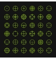Set of different flat crosshair sign icons Line vector image