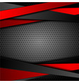 abstract red black stripes on dark perforated vector image vector image
