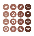agriculture farm icons universal set for web vector image vector image