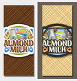 banners for almond milk vector image vector image