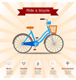Benefits of ride a bicycle vector image vector image