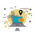 big data technology vector image vector image
