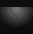 black brick wall background vector image vector image