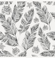 black palm leaves hibiscus plumeria white vector image vector image