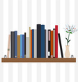 Book shelf vector image vector image