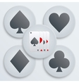 Casino simple icon card suits vector image vector image