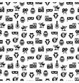 cinema award party seamless pattern design vector image vector image