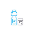 cold drinks linear icon concept cold drinks line vector image