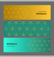 collection of geometric colored banner can be vector image vector image