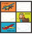 Colorful card baby girl and planes vector image vector image