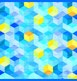 colorful hexagonal shape abstract background vector image vector image
