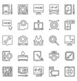 computer repair outline icons computer vector image