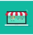 concept of online shop e-commerce internet store vector image vector image