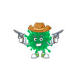 cool cowboy coronavirus pneumonia holding guns vector image vector image