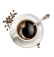 Cup of coffee realistic vector image vector image